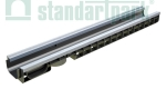 Лоток водоотводный пластиковый PolyMax Basic DN100 H80 усиленный