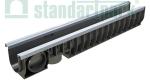 Лоток водоотводный пластиковый PolyMax Basic DN100 H155 усиленный