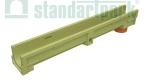Лоток водоотводный полимербетонный CompoMax Basic DN100 H130 с вертикальным водоотводом