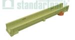 Лоток водоотводный полимербетонный CompoMax Basic DN100 H100 с вертикальным водоотводом