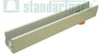 Лоток водоотводный бетонный BetoMax Basic DN100 H130 с вертикальным водоотводом